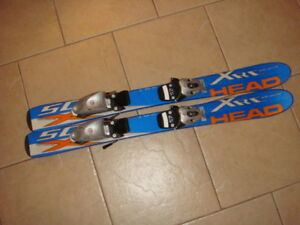 Kid's Head Skis (86 cm) with 2 pairs of Rossignol boots