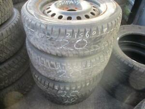 215/60 R17 JEEP COMPASS WINTER TIRES AND RIMS PACKAGE (SET OF 4) - USED SAILUN ICE-BLAZER APPROX. 85% TREAD