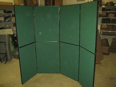Nomadic Trade Show Green Back Wall Display Assembled Approx 110 X 80 Case