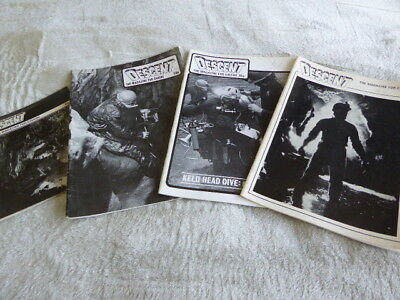 4 x early Descent Caving Magazines. Nos 39,40,41,42. from July 1978