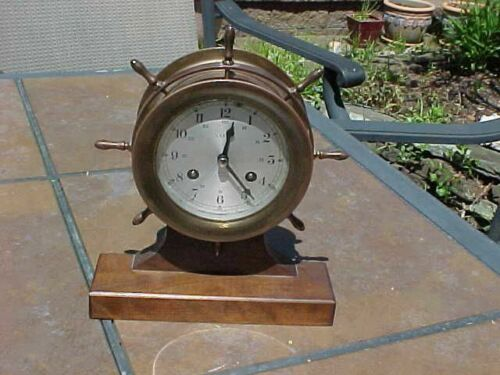 ORIGINAL VINTAGE SHIP / NAUTICAL CLOCK - LEXON - GERMANY
