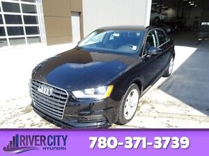 2016 Audi A3 AWD 2.0T QUATTRO Leather,  Heated Seats,  Sunroof,