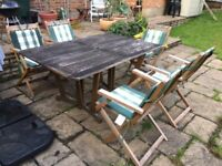 Patio Garden Table and 5 chairs