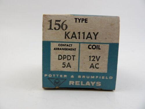 Potter & Brumfield KA11AY DPDT Relay 12V AC 5 Amp P&B Type 156