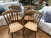Vintage Farm House Flat Back Dining Chairs x 4