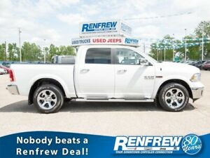 2016 Ram 1500 4WD Laramie EcoDiesel, Sunroof, Navigation, Cooled