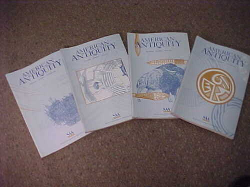 Complete set of 4-1999 American Antiquity-Journal Society American Archaeology