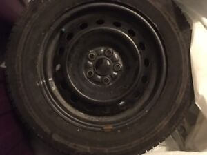 Blizzak Winter Tires with Rims - 2 seasons new....