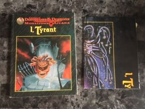 Ad&D Advanced Dungeons & Dragons I,TYRANT avec POSTER