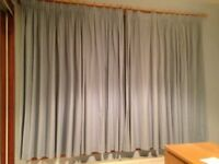 Laura Ashley Blue Gingham Curtains, Rug and Lights