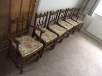Set of 6 Ercol Golden Dawn dining chairs including 2 carvers. Very good condition