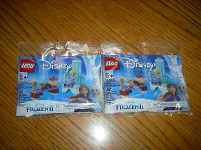 I/H New Lego Lot of 2 Disney Frozen II 30553 Elsa's Winter Throne Polybag Set