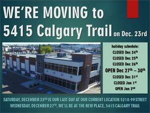 Boxing week sale, new location. 5415 Calgary trail!