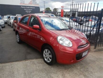 2015 Nissan Micra K13 MY15 ST Red 4 Speed Automatic Hatchback Burwood Whitehorse Area Preview