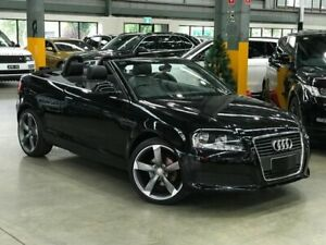 2009 Audi A3 8P TFSI Attraction Convertible 2dr S tronic 7sp 1.8T [MY10] Black Port Melbourne Port Phillip Preview