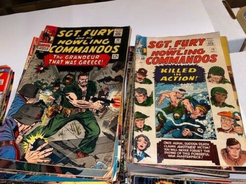Sgt Fury (Marvel) Lot - Near Complete Run of issue #s 18-105, War, 70+ Issues