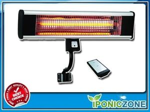 1500W WALL MOUNTED INFRARED HEATER W/ REMOTE
