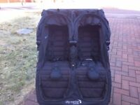 Baby Jogger City Mini GT double stroller - excellent condition - black