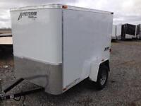 REDUCED - 2015 Homesteader Fury 5x8 Enclosed (White) - 37876