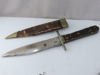 RARE GEORGE WOSTENHOLM IXL BOWIE HUNTING KNIFE w SHEATH WASHINGTON WORKS ORIG.