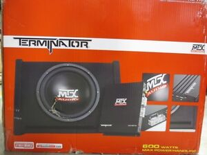 MTX 12'' LOADED Subwoofer Enclosure w/2oowatt AMP  - New in box