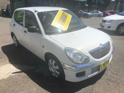 2002 Daihatsu Sirion M100RS White Automatic Hatchback Lidcombe Auburn Area Preview
