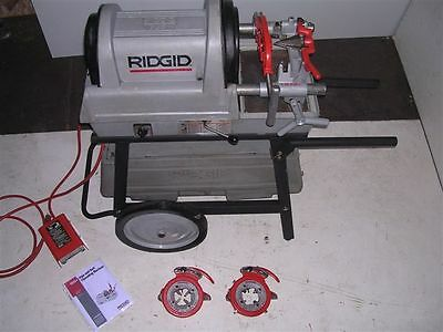 Ridgid 1822-i Auto-chucking Pipe Threader 535 Two 815a Die Heads 4-6 W 141 161