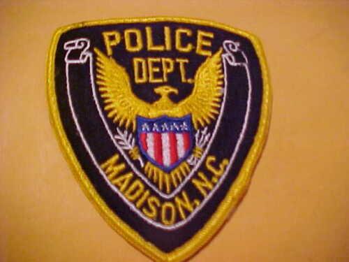 MADISON NORTH CAROLINA POLICE PATCH SHOULDER SIZE UNUSED