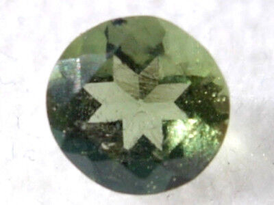 .530 carats faceted 5mm natural green ROUND moldavite gem Jewelry for jewelers