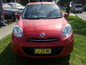 2014 Nissan Micra K13 MY13 ST Red 4 Speed Automatic Hatchback Five Dock Canada Bay Area Preview