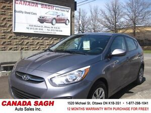 2017 Hyundai Accent MINT 2km ! AUTO/ AC , WRTY+SAFETY $14900