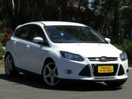 2012 Ford Focus LW Titanium PwrShift White 6 Speed Sports Automatic Dual Clutch Hatchback Melrose Park Mitcham Area Preview