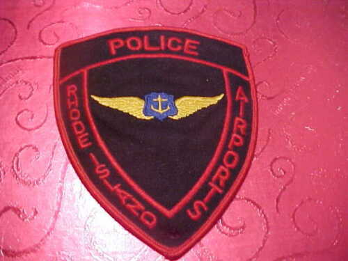 RHODE ISLAND AIRPORTS POLICE PATCH SHOULDER SIZE USED