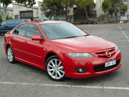 2007 Mazda 6 GG 05 Upgrade Luxury Sports Red 5 Speed Auto Activematic Hatchback Maidstone Maribyrnong Area Preview