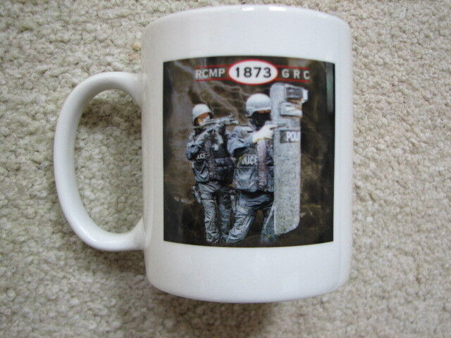 Royal Canadian Mounted Police RCMP Elite SWAT ESU Coffee Mug Cup NYPD LAPD NEW