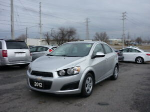 2012 CHEVY SONIC LT FREE ACCIDENT LOW KM