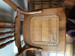 Six Caned Dining Chairs