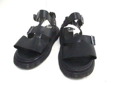 Auth Dr.Martens Black Leather Sandals Men