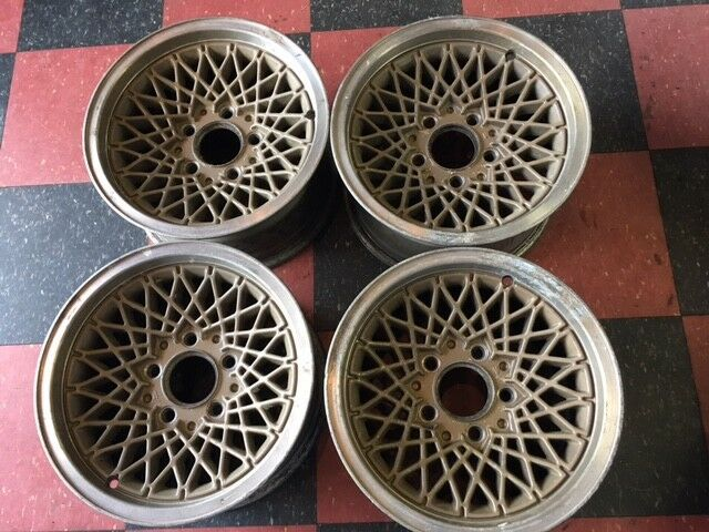 "Original Set of 4 Firebird Lace Wheels 1985 - 1988 15"" X 7""  5 on 4 3/4"""