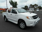 2007 Toyota Hilux KUN26R 06 Upgrade SR (4x4) White 5 Speed Manual Dual Cab Chassis Maidstone Maribyrnong Area Preview