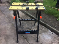 Foldable work bench workbench