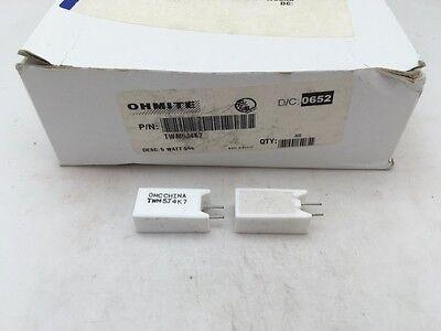 10 Pcs Twm5j4k7 Ohmite 5 Watt 4.7k Ohm 5 Ceramic Housed Power Resistor