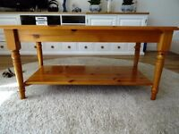 CORNDELL PINE Top Quality SHELVED COFFEE TABLE