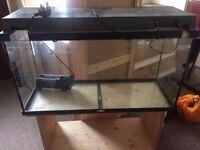 Fish tank 100L + stand with filter, pump, light 800mm x 300mm x 410mm xx