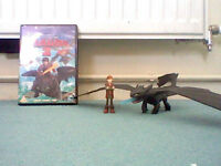 how to train your dragon 2 dvd plus toothless and hiccup figures