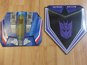 TRANSFORMERS MASTERPIECE COINS FOR THUNDERCRACKER & SKYWARP