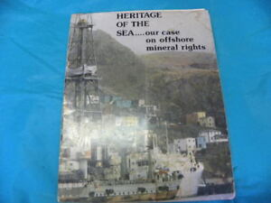 $10 firm. Rare NL books. Frank Moores. Heritage of The Sea