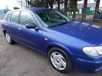 NISSAN ALMERA 1.5 TWISTER 5 DOOR HATCHBACK 02 REG,, TRADE IN TO CLEAR,, MOT JUNE 2017