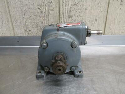 Dayton 2z306b Gear Reduction Box Speed Reducer Gearbox 581 Ratio .33 Hp