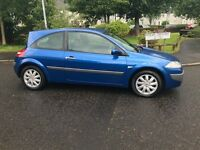 Renault Megane Dynamique low mileage and full service history
